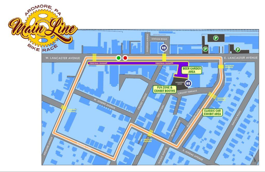 Race Map - 2019 MAIN LINE BIKE RACE